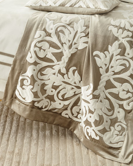 Diana Fawn Velvet Throw
