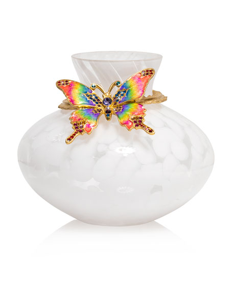 Rainbow Butterfly Vase