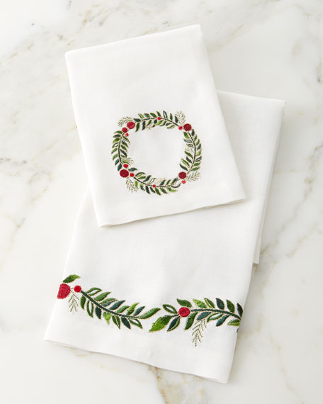Kim Seybert Garland Fingertip Towels, Set of 2