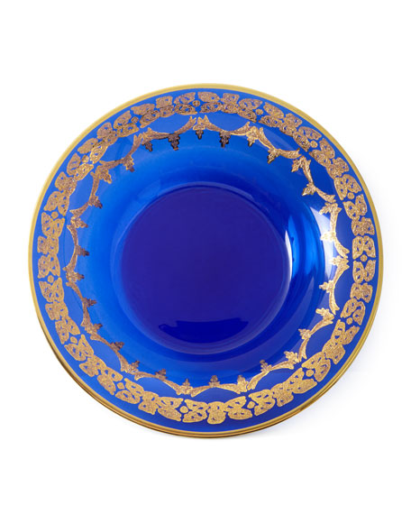 Neiman Marcus Blue Oro Bello Soup Bowls, Set