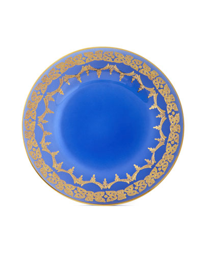 Blue Oro Bello Dinner Plates  Set of 4