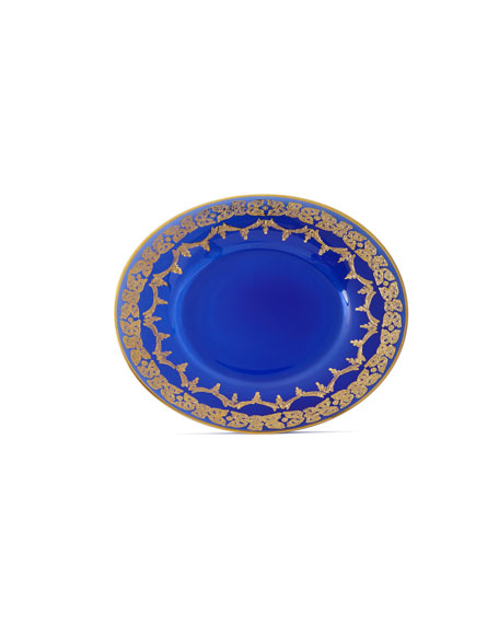 Blue Oro Bello Dessert Plates, Set of 4