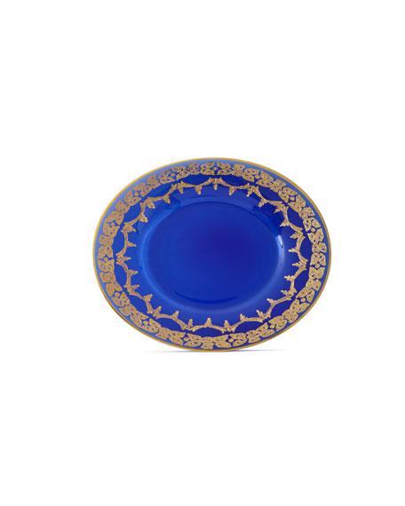 Neiman Marcus Blue Oro Bello Dessert Plates, Set