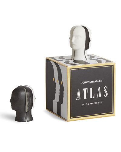 Atlas Salt and Pepper Shakers