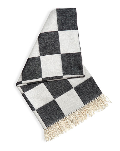 Jonathan Adler Checkerboard Baby Alpaca Throw