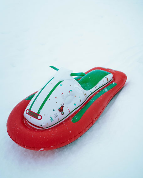 Holiday Inflatable Snow Sled