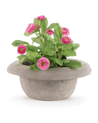 Chapeau-Bombetta Cement Vase