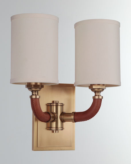Huxley Vintage Brass 2-Light Sconce