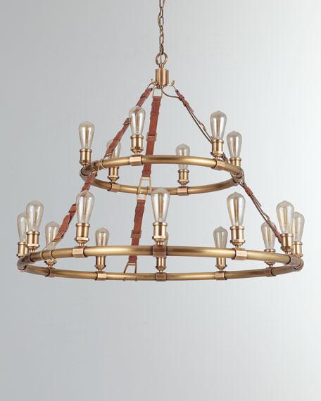 Huxley Vintage Brass 18-Light Chandelier
