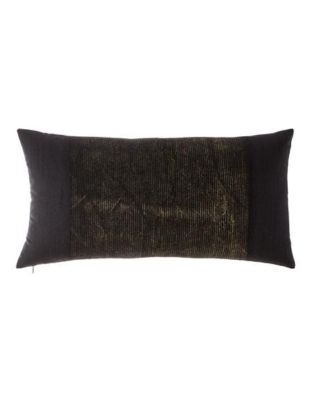 Donna Karan Collection Metallic Embroidery Decorative Pillow