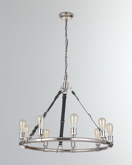 Huxley Polished Nickel 9-Light Chandelier