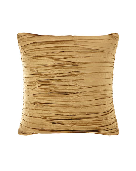 Valour Pleated Silk Faux Silk Pillow