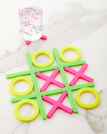 Tic Tac Trivet Coasters Neon
