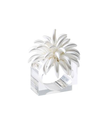 Kim Seybert Blossom Napkin Rings, Set of 4