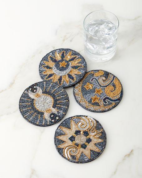 Kim Seybert Celestial Coasters, Set of 4