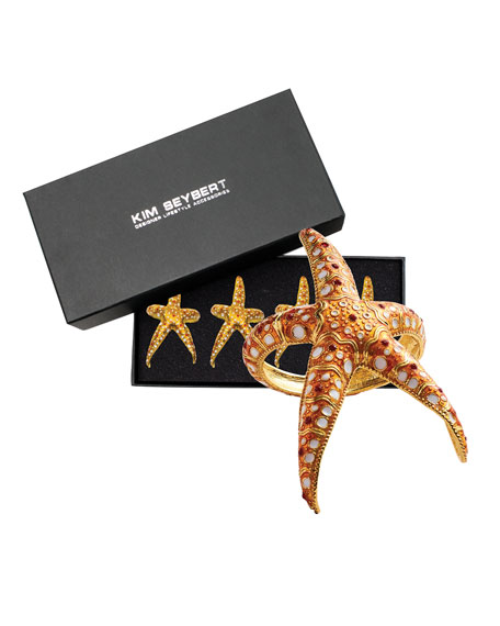 Starfish Napkin Rings, Set of 4