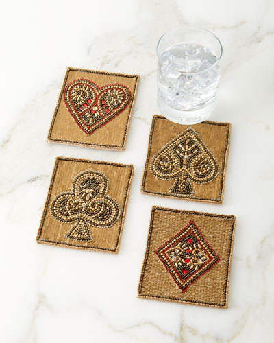 Poker Coasters  Set of 4