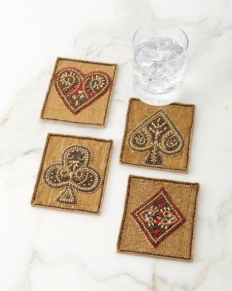 Poker Coasters, Set of 4