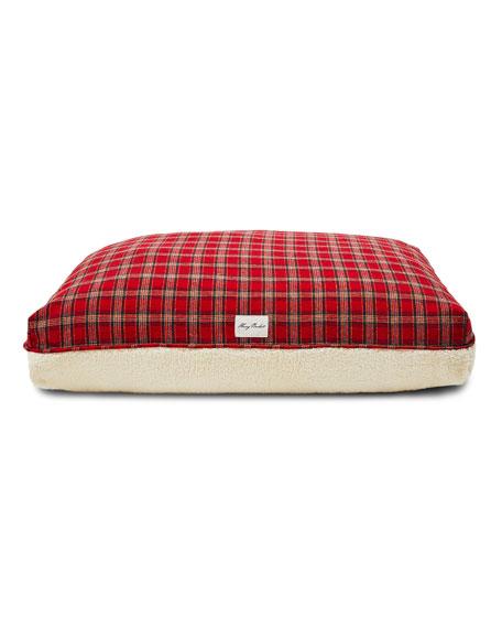 Plaid Sherpa Large Dog Bed