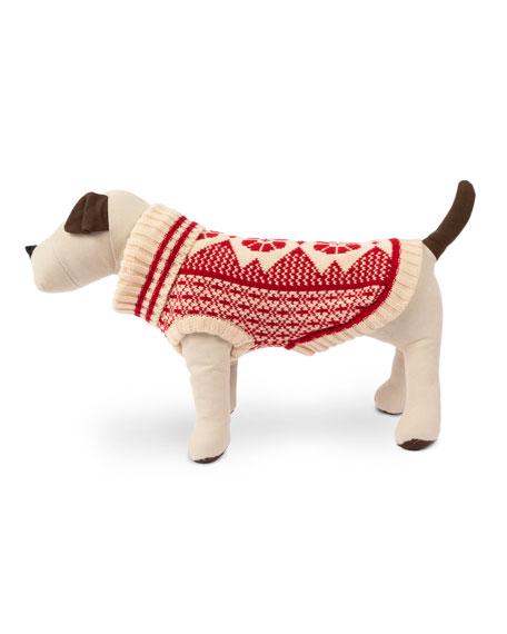 Fair Isle Dog Ski Sweater, Extra Small