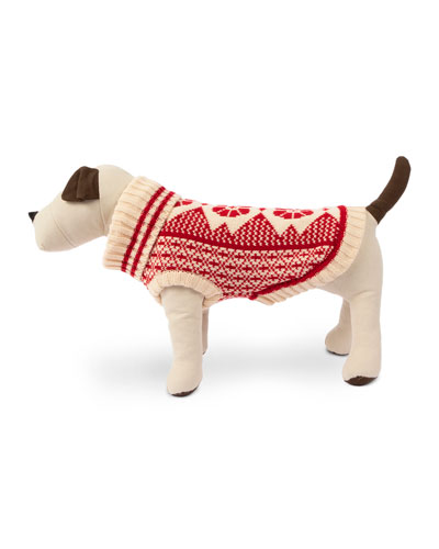 Fair Isle Dog Ski Sweater  Extra Large