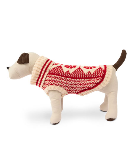 Fair Isle Dog Ski Sweater, Large
