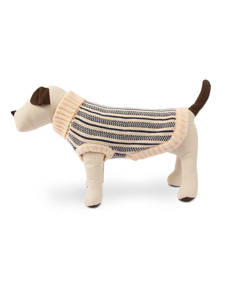 Cabin Stripe Knit Dog Sweater, Extra Large