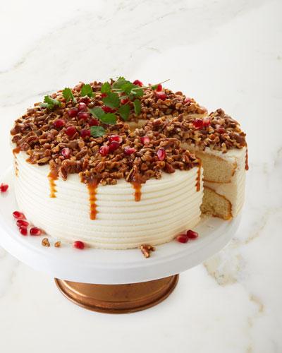 Bourbon Caramel Crunch Cake