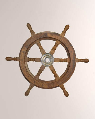 Captain's Steering Wheel Decoration