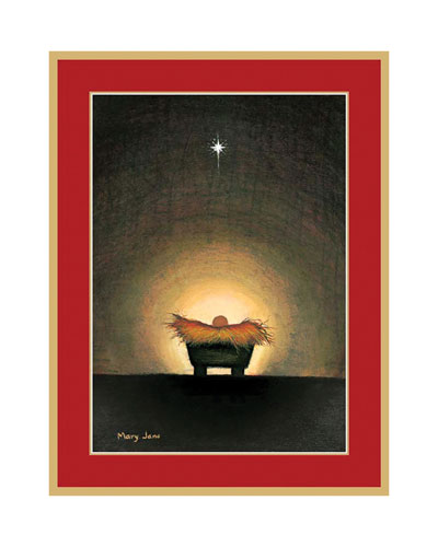 Star Creche Holiday Cards