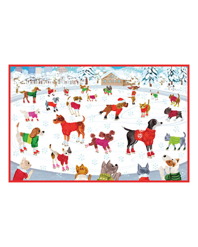 Skating Pets Holiday Cards