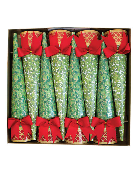 Caspari Boxwood Topiary Crackers