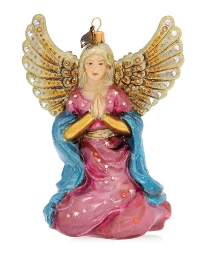 Angel Kneeling Christmas Ornament