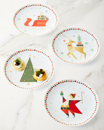 NM Crazy Good Gifts Dessert Plates Boxed Set