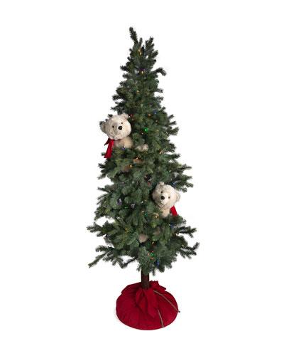 Christmas Polar Bear Frolic Tree  72