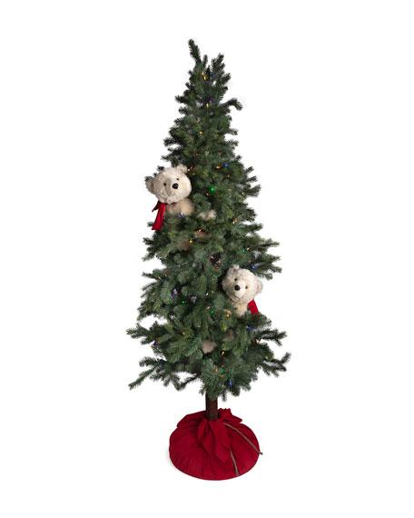 "Christmas Polar Bear Frolic Tree, 72"""