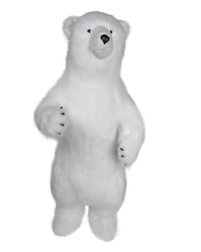 Standing White Diamond Bear  48