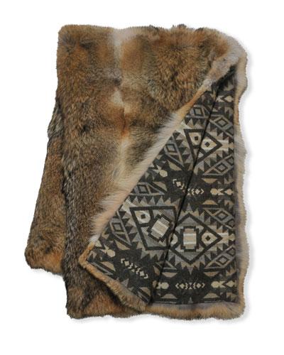 Coyote Fur Throw Blanket