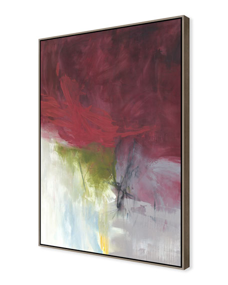 Burgundy Bride Giclee On Canvas Wall Art With Frame