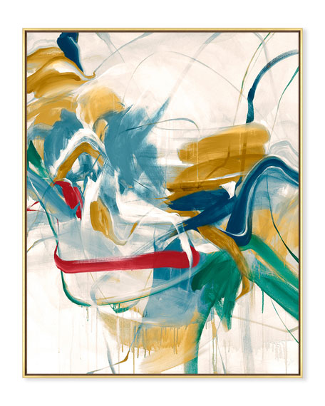 Color Moves Giclee On Canvas Wall Art With Frame