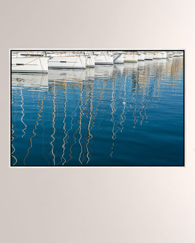 Marseilles Boats Giclee On Canvas Wall Art With Frame