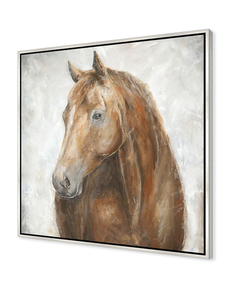 Red Stallion Giclee On Canvas Wall Art With Frame