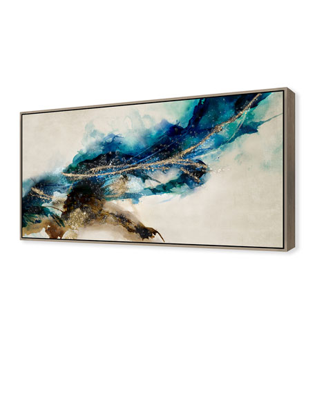 Cerulean Movement II Giclee On Canvas Wall Art With Frame