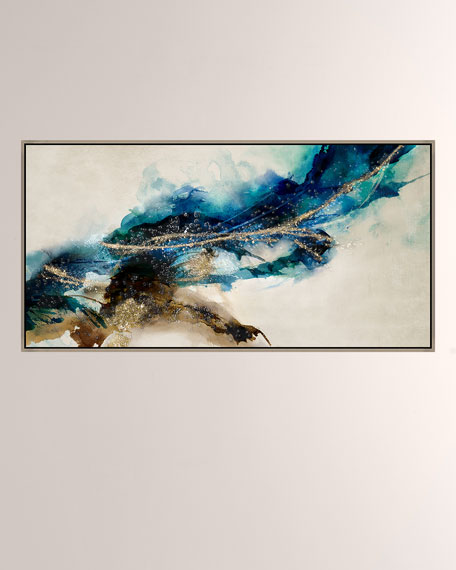 Cerulean Movement II Giclee On Canvas Wall Art