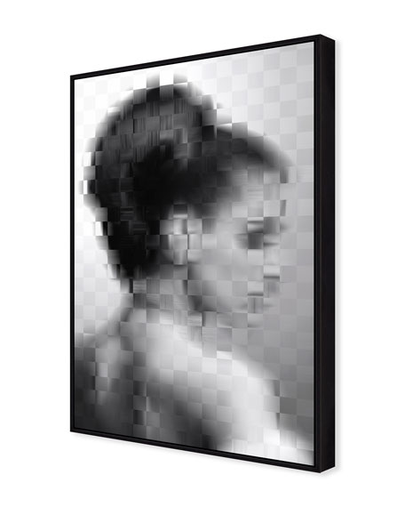 Pixelism Portrait Giclee On Canvas Wall Art With Frame