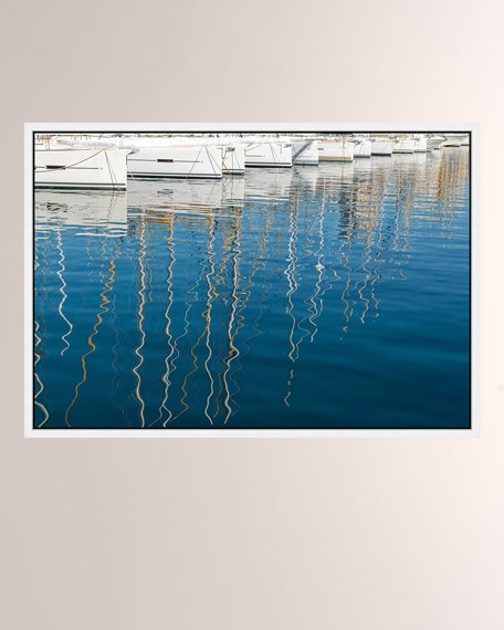 Marseilles Boats Photo Print On Metal With Frame