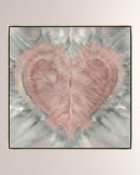 One Love Rose Quartz Giclee On Canvas Wall Art With Frame