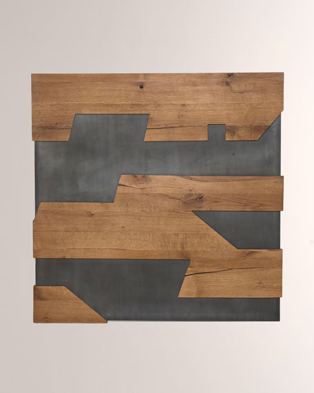 Cabrini Gunmetal Wall Panel Decor