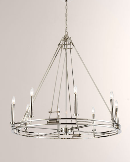Bergamo 8-Light Chandelier in Polished Nickel