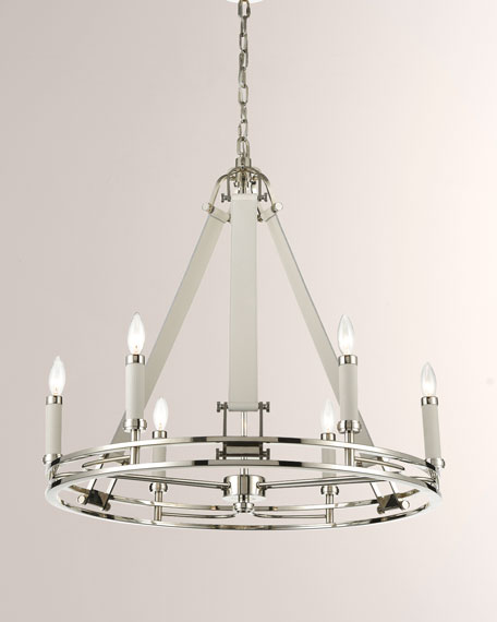 Bergamo 6-Light Chandelier In Polished Nickel
